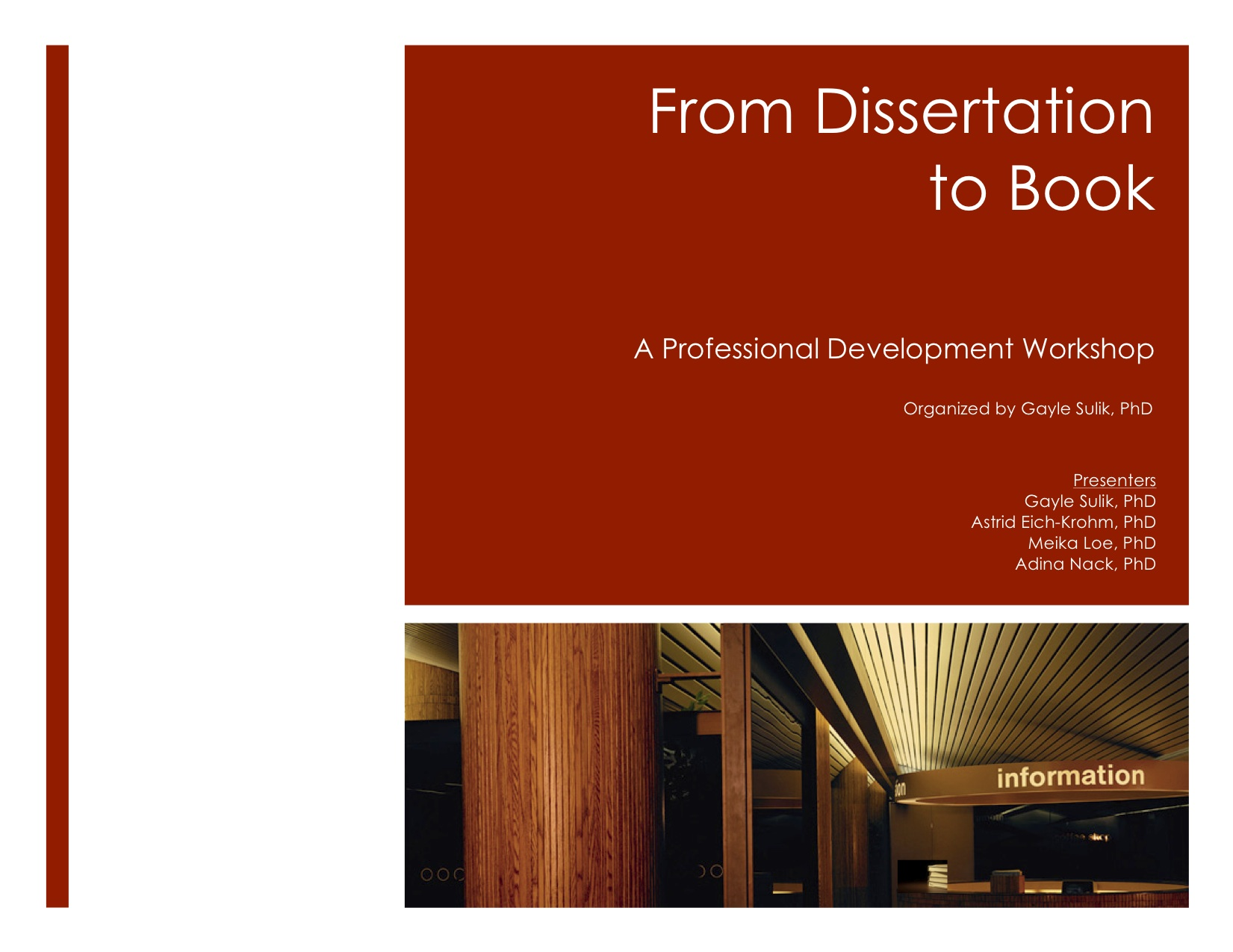 Dissertation published book